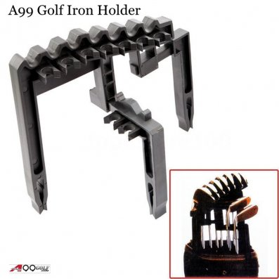 Spicybuys Golf 9 Iron Club Holder Black Universal Tool - Organize Your Irons