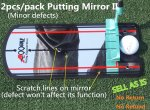 2pcs/pack Golf putting mirror with logo - Sell AS IS