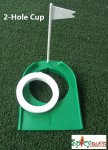 Spicybuys Golf 2- hole putting cup adjustable Flagpole hole cup
