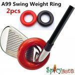 2pcs/pack Golf Club Weighted Swing Ring - Swing Warm-Up Tool, warm muscles