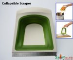Spicybuys Collapsible Scraper Chopper with Stainless Steel Edge