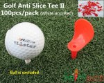 "100pcs/pack Spicybuys Golf Anti-Slice Tee 3 1/4"" (83mm) Length"