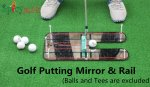 Spicybuys Golf Putting Mirror & Rail