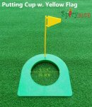 Spicybuys Golf Putting Cup with Yellow Flag