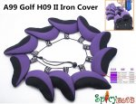 10pcs/set A99 Golf Iron Headcovers H09 II Blue voilet/Black