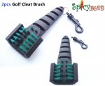Spicybuys 2pcs golf Cleaning Brush Club Groove Driver Shoe Cleat Cleaner Scrubber