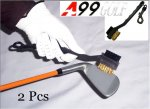 A99 Golf Dual Brush Cleaner with Snap Clip 2 pcs
