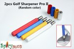 2pcs Spicybuys Golf Sharpener Pro II Wedge & Iron Club Regrooving Tool Cleaner