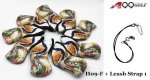 H09 Golf Head Cover With Animate peacock style Print 9pc + 1 leash strap